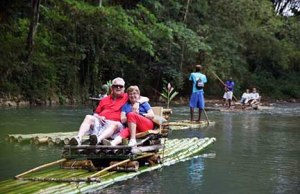 Rafting with the folks in Jamaica